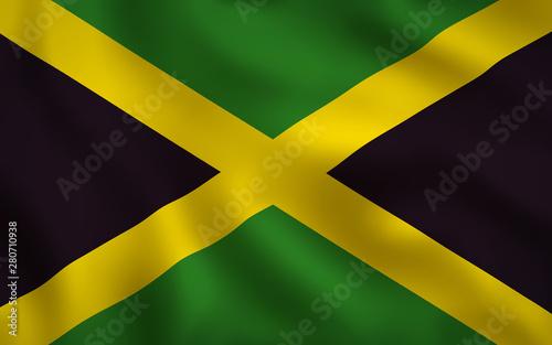 Fotografie, Obraz  Jamaican Flag Image Full Frame