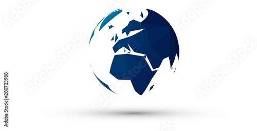 Stampa su Tela terra, globo, mondo, icona, importazione, internet