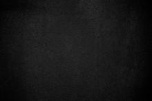 Black Wall Texture Pattern Rough Background. Old Black Grunge Background. Dark Wallpaper Copy Space For Design.