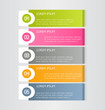 Business infographics tabs template for presentation, education, web design, banners, brochures, flyers. Vector illustration.