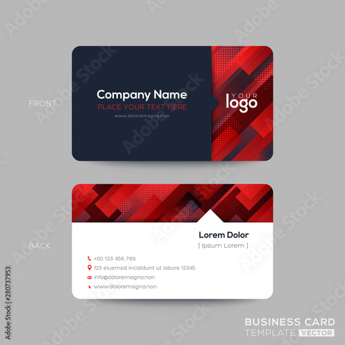 Red Business Card Membership Vip Club Template