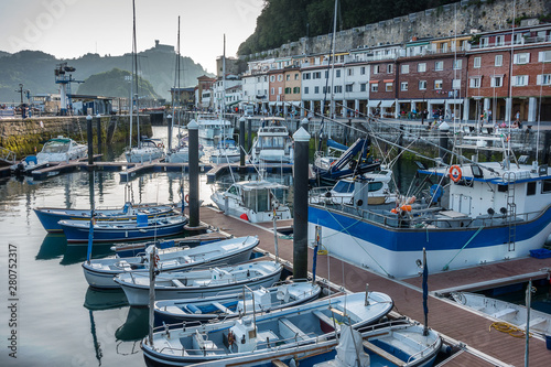 The harbour in San Sebastian Donestia Basque Country