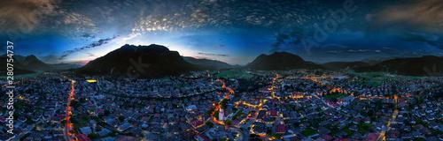 Obraz Garmisch-Partenkirchen aerial nightshot 360° - fototapety do salonu