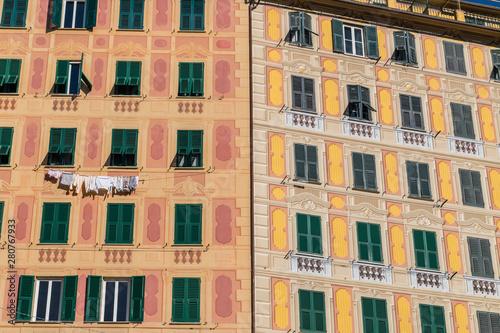 Fototapety, obrazy: Vista del centro storico di Camogli, Genova, Liguria, Italia