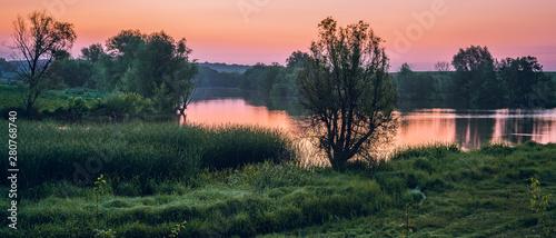 Fotografie, Obraz  Sunrise on river
