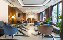 Interior Of A Modern Hotel  Lounge Cafe Bar Restaurant