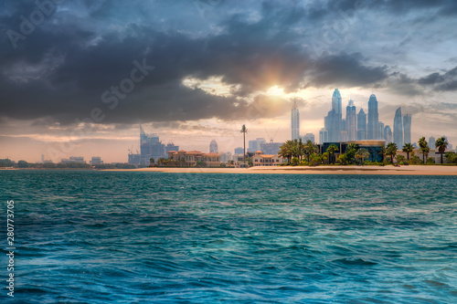 Fényképezés  Dubai at sunset