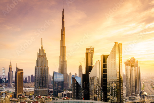 Dubai downtown skyline Fototapeta