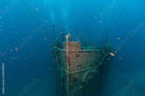 Poster Naufrage Wreck of a Cargo Ship, Cres , Croatia