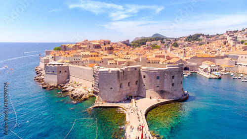 The Old Port of Dubrovnik Canvas