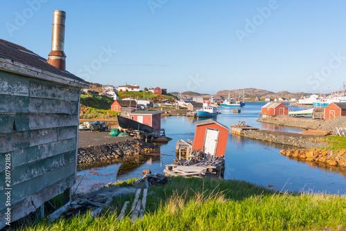 Fishing village of Farmers Arm near Twillingate, Newfoundland, Canada Fototapeta