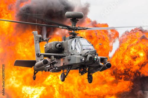 Army Air Corps WAH-64D Apache captured at the 2019 Royal International Air Tattoo at RAF Fairford Wallpaper Mural