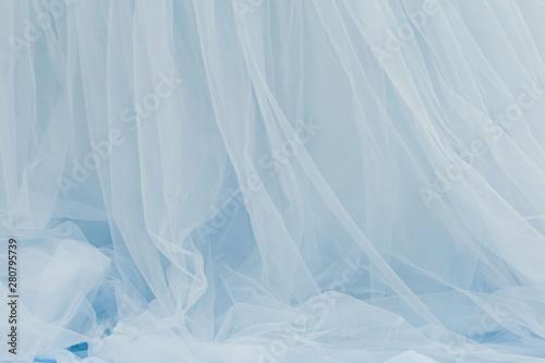 Fotografie, Obraz  Background of Fabric fatin pastel blue color twisting