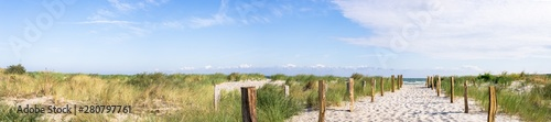 Poster North Sea Panorama Strand Ostsee