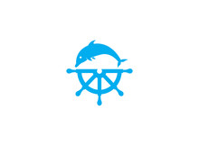 Dolphine Icon And Ship Wheel F...