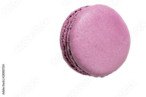 Foto auf AluDibond Macarons Colorful lilac macaroons isolated on white background.