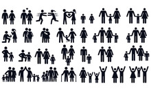 People And Family Symbols Vect...