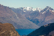 Beautiful long range panorama of the wider Queenstown area from the Crown Range road