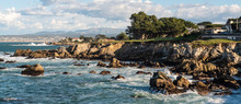Rocky Coastline On Pacific Grove, California.