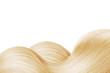 Leinwandbild Motiv Blond shiny hair as background. Copyspace
