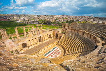Roman Theatre In Jerash, Near Amman, Jordan
