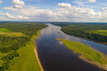 July Day Over The Volga River ...