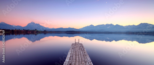 Obraz Herbst am Gebirgssee - fototapety do salonu