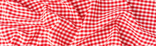Red Checkered Tablecloth. Banner