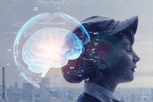 Obraz AI 人工知能 - fototapety do salonu