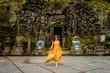 canvas print picture - Pretty girl at Goa Gajah, Bali