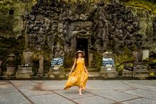Pretty Girl At Goa Gajah, Bali