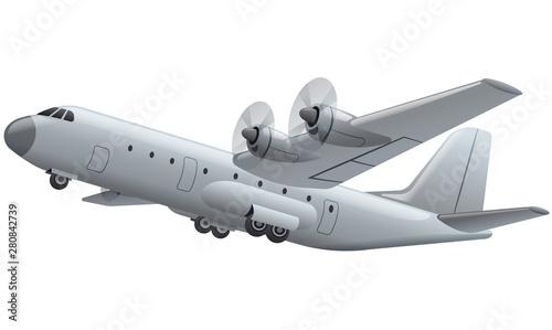 Vászonkép propeller cargo plane