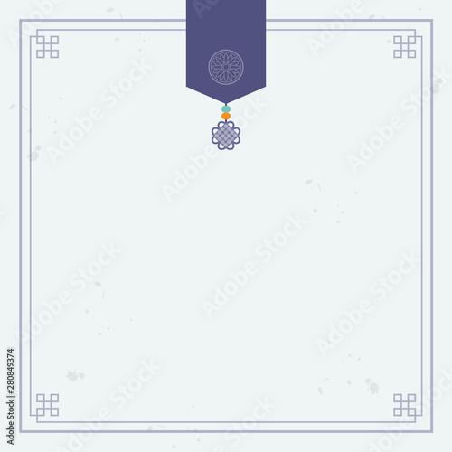 Korean traditional ornament background Fototapete