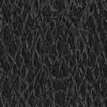 Abstract Seamless Ethnic Background. Long Narrow Paper Strips Of Dark Color Are Tightly Intertwined In A Complex Chaotic Pattern.
