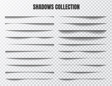 Realistic Shadow Effect Vector Set Separate Components On A Transparent Background
