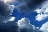 Fototapeta Kawa jest smaczna - Clouds and Blue Sky