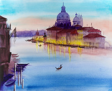 Watercolor Picture Of Venice ...