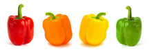 Set Of Colored Bell Peppers Is...