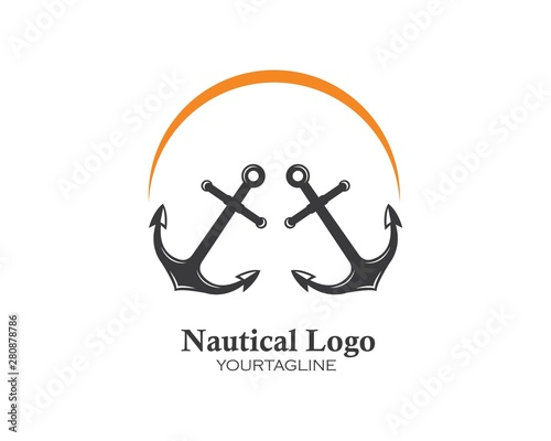 Canvas-taulu Anchor icon Logo Template vector