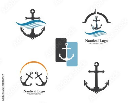 Fotografía Anchor icon Logo Template vector