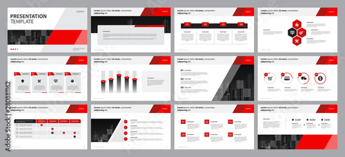 Fotografía business presentation backgrounds design template and page layout design for bro