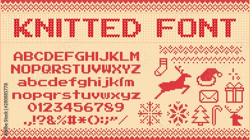Winter Sweater Font Knitted Christmas Sweaters Letters