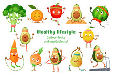 Sport Fruits And Vegetables. H...