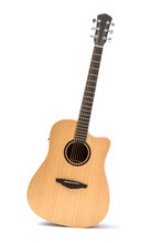 Acoustic Guitar Isolated White...