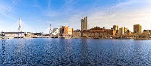 Photo  Boston Zakim bridge panorama