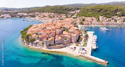 Old Town Korcula, Korcula Island, Croatia Fototapet