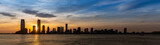 Fototapeta Nowy York - New Jersey Skyline sunset