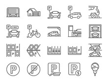 Parking Line Icon Set. Include...