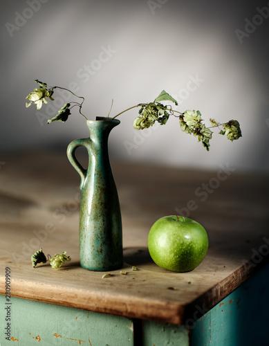 Fototapeta Still Life with Green Apple obraz