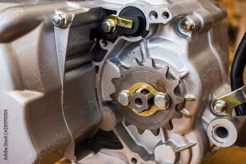 Fotografia  part of  ATV engine